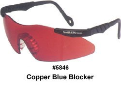 Smith & Wesson Copper Safety Glasses, Scratch-Resistant, Frameless