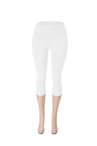 52ba2efe9d5c9b SATINA High Waisted Super Soft Capri Leggings - 20 Colors - Reg & Plus Size