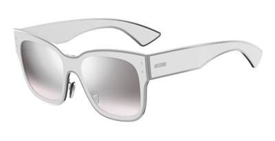 Sunglasses Moschino Mos 0/S 0VK6 White/IC gray mirror shaded silver lens