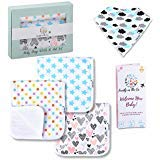 3-pack Baby Burp Cloths and Baby Bib Set with Box, for newborns, babies, toddlers and children Family On The Go