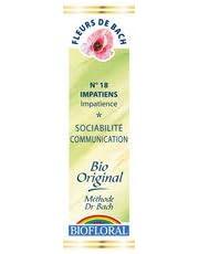 Biofloral, Flores De Bach 18 Impatiens - Impaciencia Bio Demeter - 20 ml