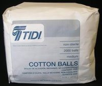 969153 PT# 969153- Cotton Balls N/S Medium 2000/Bx by, Tidi Products LLC (Cotton Tidi)