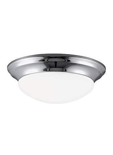 Sea Gull Lighting 75434EN3-05 One Light Ceiling Flush Mount, Chrome