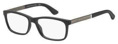 Tommy Hilfiger Plastic Rectangular Eyeglasses 55 0003 Matte - Prescription Tommy Glasses Hilfiger