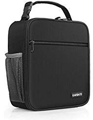 CARBATO Adult Insulated Lunch Box Reusable Lunch Bag Cooler Tote Bag for Men, Adults, Women (Black)