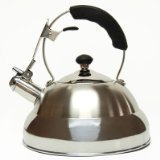 Creative Home Saturn Heavy Gauge Stainless Steel Whistling Tea Kettle with Capsulated Bottom, 2.8-Quart by Creative Home