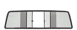 - TSW1090BT - CRL Duo-Vent Four Panel Slider with Dark Gray Glass for 1980-1986 Nissan King Cabs