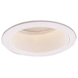 Commercial Electric 6 in. R40 White Baffle Trim (6-Pack) (T9)