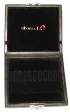 10-Reed Oboe Reed Case Black Leather
