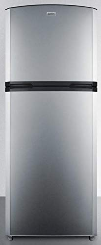 Summit FF1427SS 26 Inch Freestanding Counter Depth Top Freezer Refrigerator in Stainless Steel