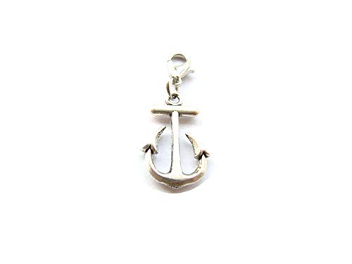 Small Anchor Charm,Ancient Silver Anchor Charm, Lobster Clasp, Phone Charm Zipper Pull Cell Lanyard - Zipper Pull Charm Cell Phone