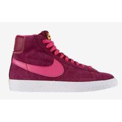 nike blazer mid vintage (GS) womens youths trainers 539930 600 sneakers hi tops raspberry red pink (uk 5.5 us 6Y eu 38.5)
