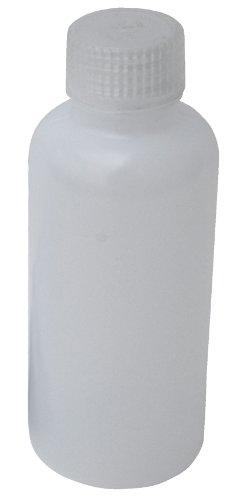 Vestil BTL-N-4 Narrow Mouth Low Density Polyethylene (LDPE) Round Plastic Bottle with Natural Cap, 4 oz Capacity, Translucent