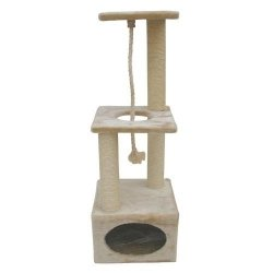 Kerbl cat tree PLATINUM PRO Beige for cats to scratch