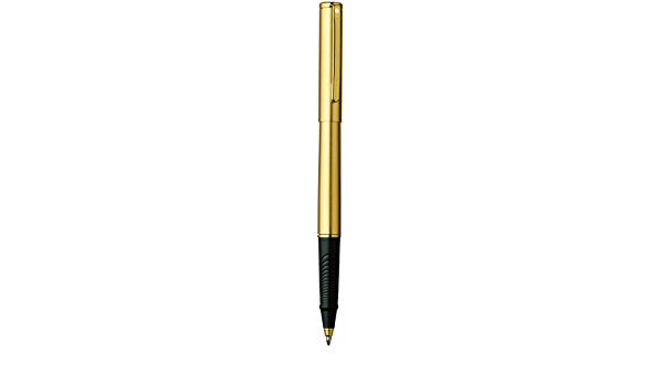 SHEAFFER AGIO 9082 YELLOW LACQUER WITH GOLD TRIM ROLLER BALL PEN GORGEOUS DESIGN