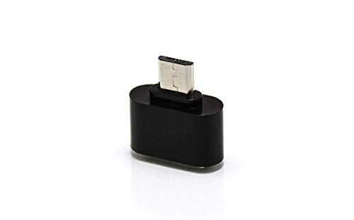 Micro USB OTG Adapter 2.0 Converter On The Go Reader for Samsung Galaxy Smartphones and Tablets, Huawei, LG and More, Converts Micro USB to USB 2.0 (Black)