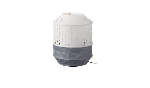 Ikea - Lámpara de mesa con pantalla blanca de papel de arroz: Amazon.es: Hogar