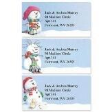Snowman Delights Self-Adhesive, Flat-Sheet Self-Adhesive, Flat-Sheet Border Address Labels (3 Designs)