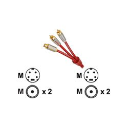 - Nxg Ruby Stereo Audio/S-Video Cable 2M