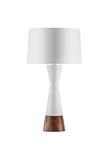 010826 Nova Lighting Borden Table Lamp, Caribbean Walnut, 16