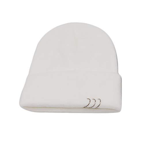 Haluoo Women's Ring Beanie Caps Slouchy Knitted Hip Hop Skull Cap Snowboard Hats Ski Cap (Cap Beanie Skull Ski Snowboard)