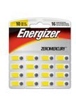 Energizer Zinc Air Hearing Aid Batteries SIZE 10 - 16 ct