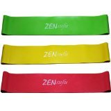 3 Loop Bands Set for Exercise (Light, Medium, Heavy) by Zensufu (tm)