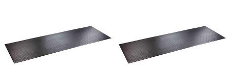 SuperMats High Density Commercial Grade Solid Equipment Mat 29GS Made in U.S.A. for Large Treadmills Ellipticals Rowers Water Rowing Machines Recumbent Bikes and Exercise Equipment (2) by SuperMats
