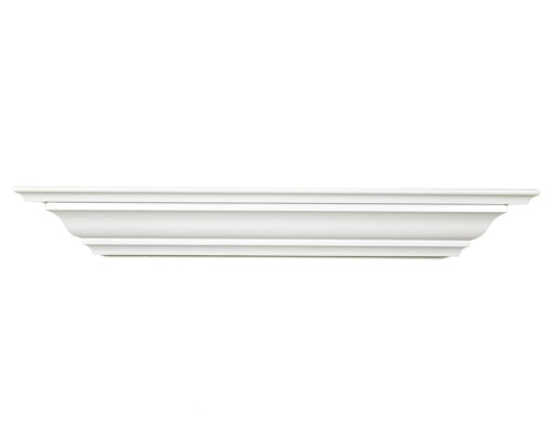 (Land of Wood Woodland Products CMS24W Crown molding 24-Inch Shelf, White Finish)