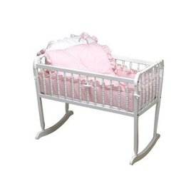 Pretty Pique Cradle Bedding - Pink - Size 15x33 by Baby Doll