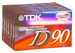 TDK 90-Minute Audio Tapes (6-Pack) (D90S6F) (Discontinued by Manufacturer)