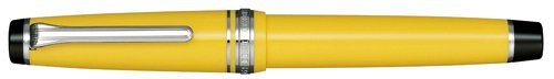 Sailor Professional Gear Yellow ST 21K Gold Rhodium Plating Broad Point Fountain Pen - 11-9280-670