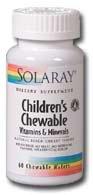 SOLARAY Детский жевательные витамины и минералы БАД, 120 Граф