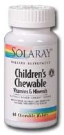(Solaray Children's Chewable Vitamins & Minerals, Black Cherry Flavor, 120 Count)