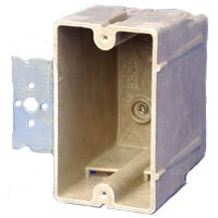 Allied Moulded Products 1096-Z2 Fiberglass Reinforced Thermoset Polyester 1-Gang Residential/Receptacle Electrical Switch Box 2-1/4 Inch x 3-13/16 Inch x 3 Inch 18 Cubic-Inch FiberglassBox™