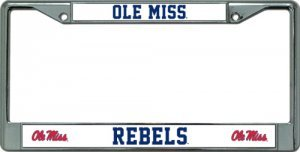 Rico Industries NCAA Mississippi Ole Miss Rebels Standard Chrome License Plate ()