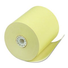 PM Company Single Ply Thermal Cash Register/POS Rolls, 3 1/8 inch x 230 ft., Canary, 50/Ctn by PM Company