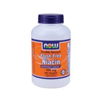 Flush-Free Niacin, 500mg, 180 Vcaps by Now Foods (Pack of 3) by NOW Foods