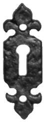 Kirkpatrick Antique Black escutcheons key whole plate 2 7/8' X 7/8' 73mm X 22mm 1493