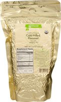 Vitacost Whole Food Certified Organic Cold-Milled Flaxseed -- 15 oz (425 g)