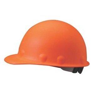 Fibre-Metal Roughneck Orange Fiberglass Cap Style Hard Hat - 8-Point Suspension - Swing Strap Adjustment - FIBRE-METAL P2ASW46A000 [PRICE is per EACH]