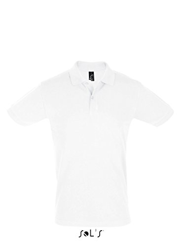 Men´s Polo Shirt Perfect - Farbe: White - Größe: L