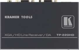 Kramer Electronics TP-219HD 1:2 Computer Graphics and HDTV Video Distribution Amplifier Over Twisted Pair and Receiver