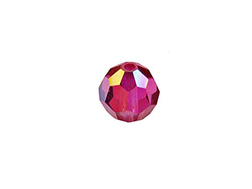 Swarovski 5000 Round Crystal Faceted Beads Fuchsia AB   7mm   Small & Wholesale Packs   Pack of 144
