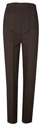 Style Mujer De Con Cintura Riddled Elástica Marrón 2 With Bolsillos Pantalones Laterales Y 5pUI6q