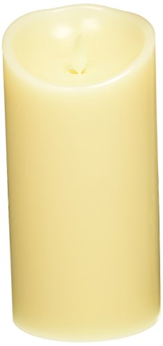 Luminara Flameless Candles Vanilla Scented Pillar Wax Candle with Timer Remote Included Ivory New Version (3.5 by 7-Inch, Ivory)