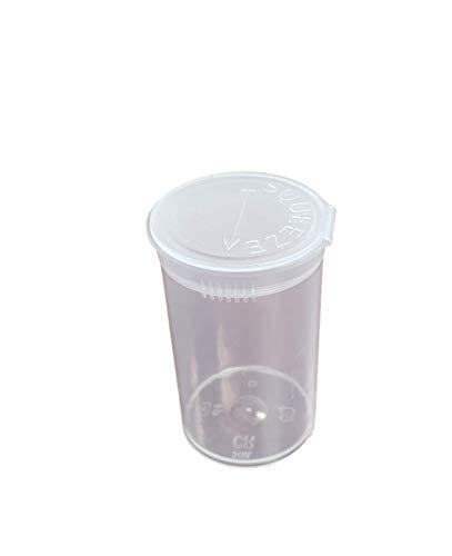 MT Products 6 Dram Pop Top Prescription Bottle (25 Pieces) (Clear)