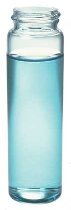 Kimax 60958A-4 Borosilicate Glass Cylindrical 20mL EPA Water Analysis Vial without Closure (Pack of 144)