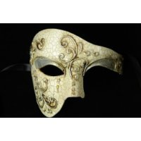 Laser Cut Venetian Halloween Masquerade Mask Costume Extravagant and Elegant Finely Detailed Phamtom Opera Ballroom Inspired - Silver (Ballroom Masks)