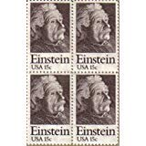 Price comparison product image ALBERT EINSTEIN ~ PHYSICIST ~ SCIENTIST 1774 Block of 4 x 15¢ US Postage Stamps